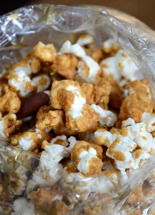 Amaretto Salted Caramel Popcorn