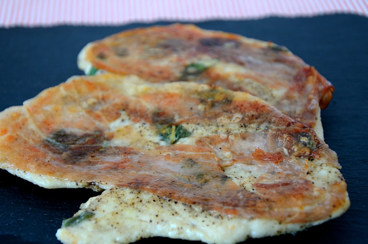 2 Chicken cutlets with crispy prosciutto and sage