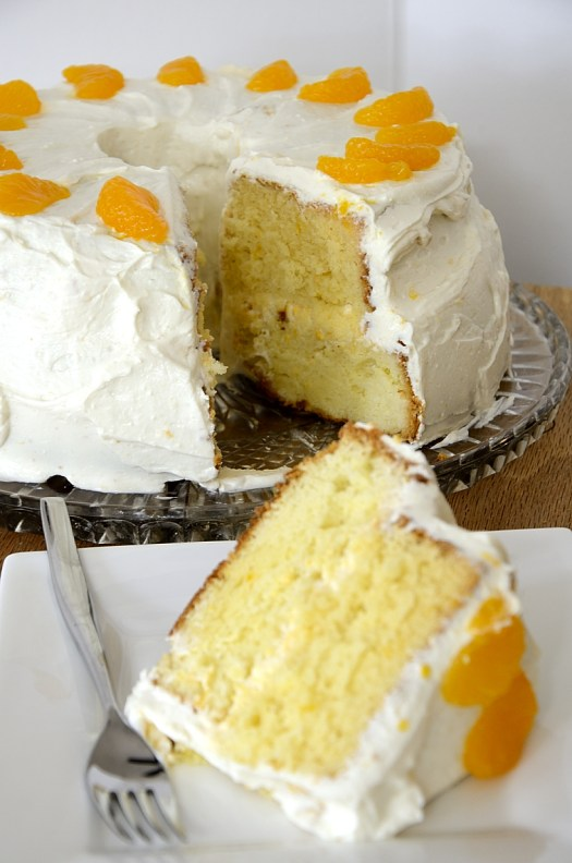 Mandarin Chiffon Cake With Yogurt Cream Cheese Frosting