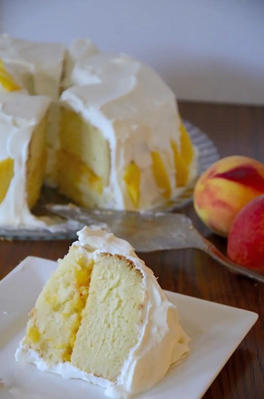 Peach and Prosecco Cake