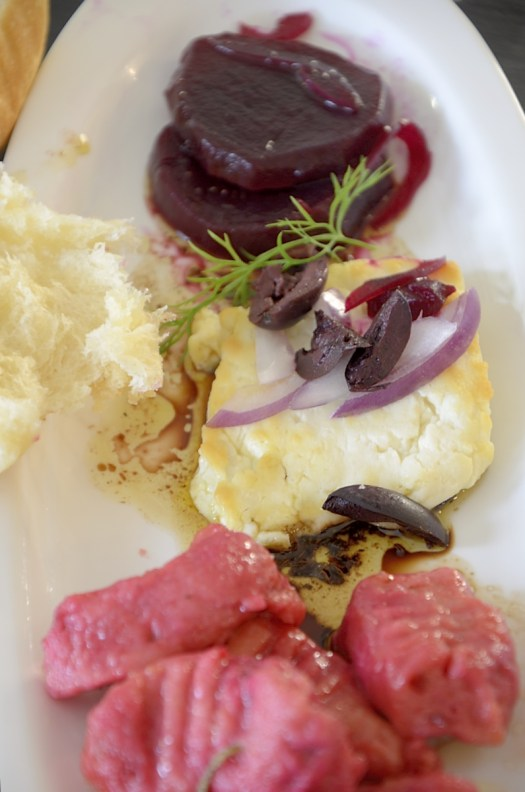 Baked Feta With Olives and Onions
