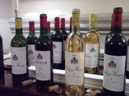Chateau Musar vintages