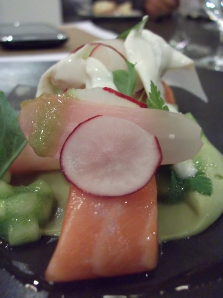 Cured Salmon at Pollen St. Social, London