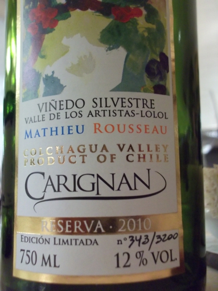 unusually, a Chilean carignan