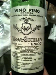 Vega Sicilia 1953