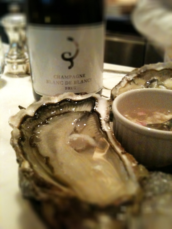 oysters and the Billecart-Salmon blanc de blanc grand cru non vintage