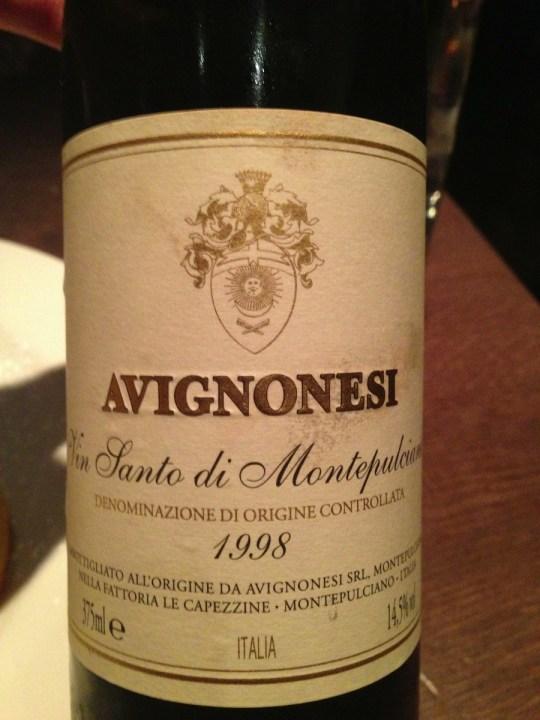 Avignonesi Vin Santo 1998