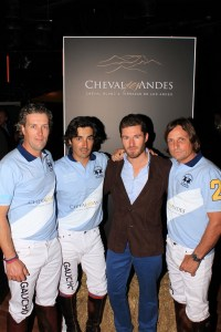 Argentine Polo team and Cheval des Andes winemaker, Nicholas Audebert