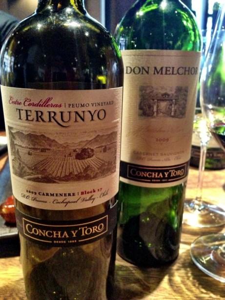 Concha y Toro red wines