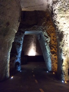 cellar carved out of the limestone