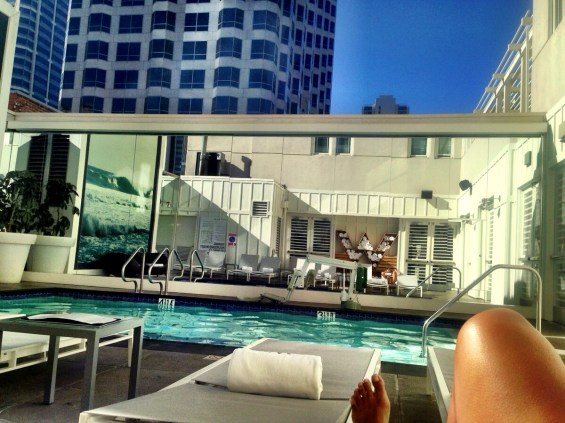 deck pool at the W Hotel, San Diego