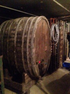old barrels in the cellar