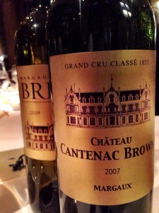Chateau Cantenac Brown 2007 and 2009
