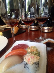 sushi and Madeira