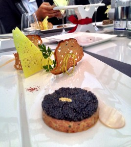 Solange Imperial Caviar on a symphony of salmon tartare