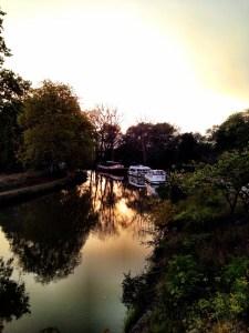 dusk on the Canal du Midi