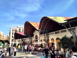 undulating roof of Santa Catarina market