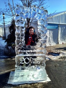 ice sculpture at the Ice Wine Festival