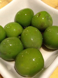 very tasty green olives