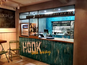 Kitchen at Hook restaurant Camden London