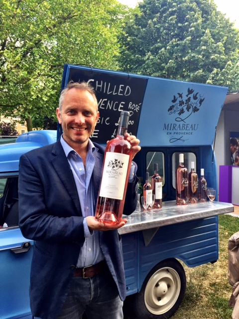 Stephen and a magnum of rosé, my favourite size! Mirabeau rosé wine