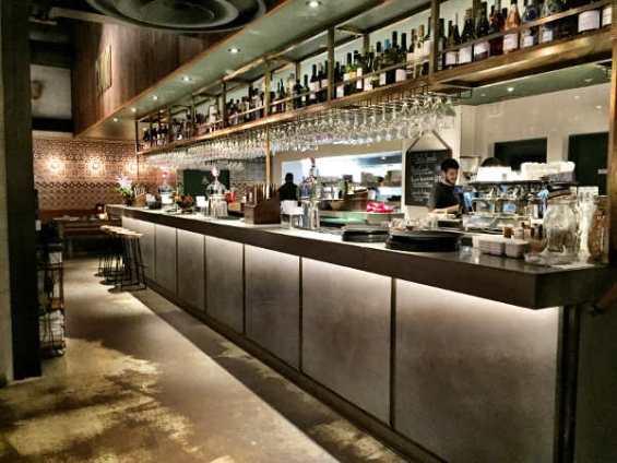 long bar at Camino Bankside London