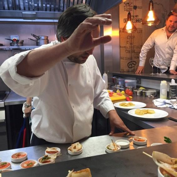 Chef Jordi at work at Vinothec Compass