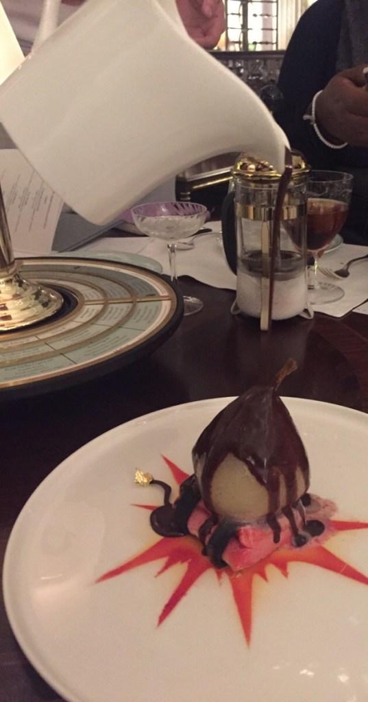 Dynamite Belle Helene, dessert, The Savoy Hotel London