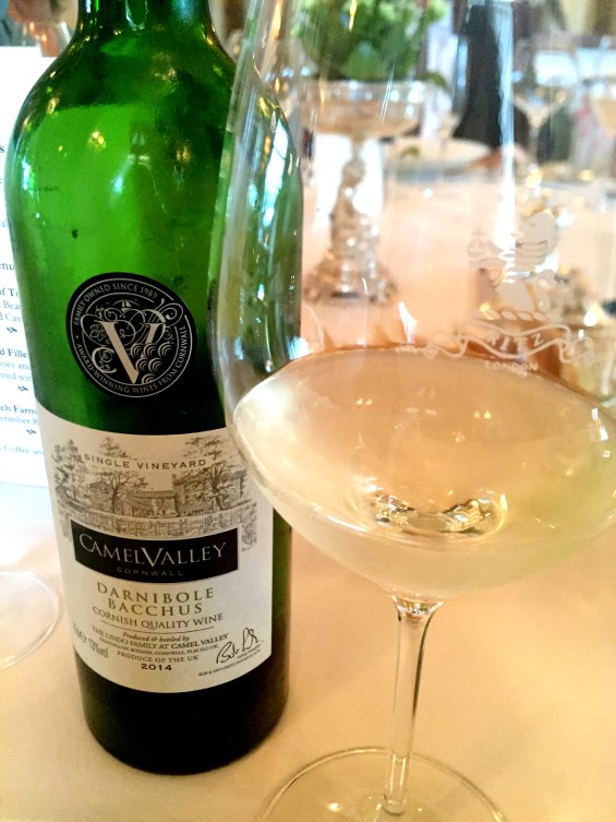 "Single vineyard, ""Darnibol"" Bacchus by Camel Valley at The Ritz, London"