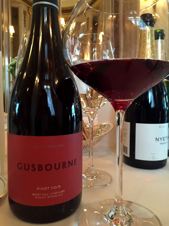 Gusbourne 2014 Pinot Noir at The Ritz, London