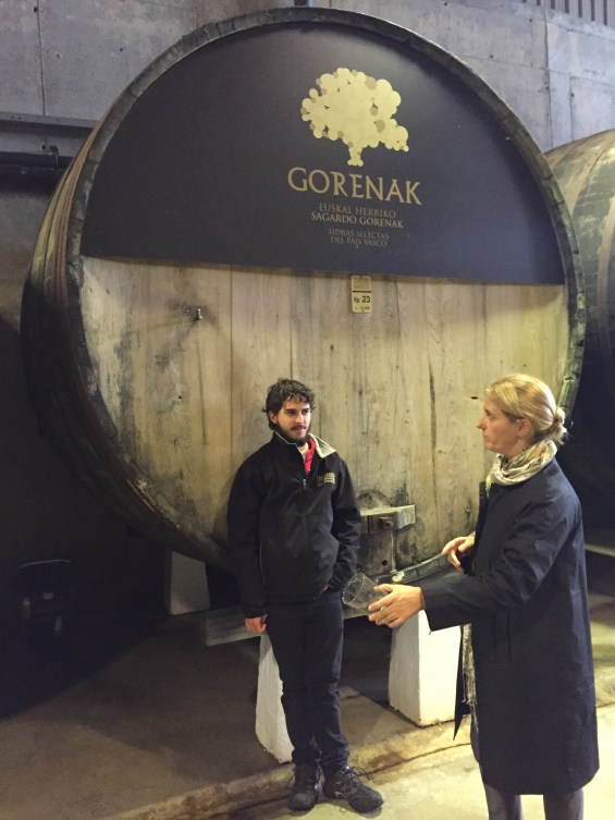 barrel of cider at Gurutzeta Cider House Basque Country