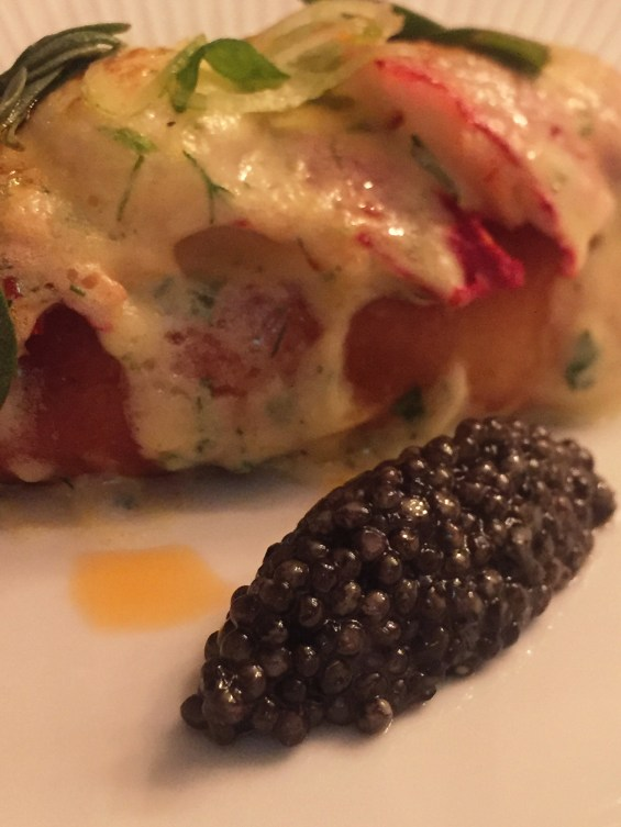 Jersey Lobster and fennel salad with Royal Siberian caviar, champagne, food and wine matching, Devaux champagne
