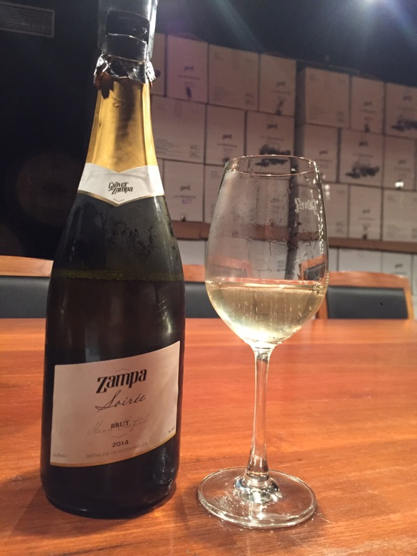 Grover Zampa Soiree 2014 Brut sparkling wine, Nashik Valley, Maharashtra, India, Indian wine