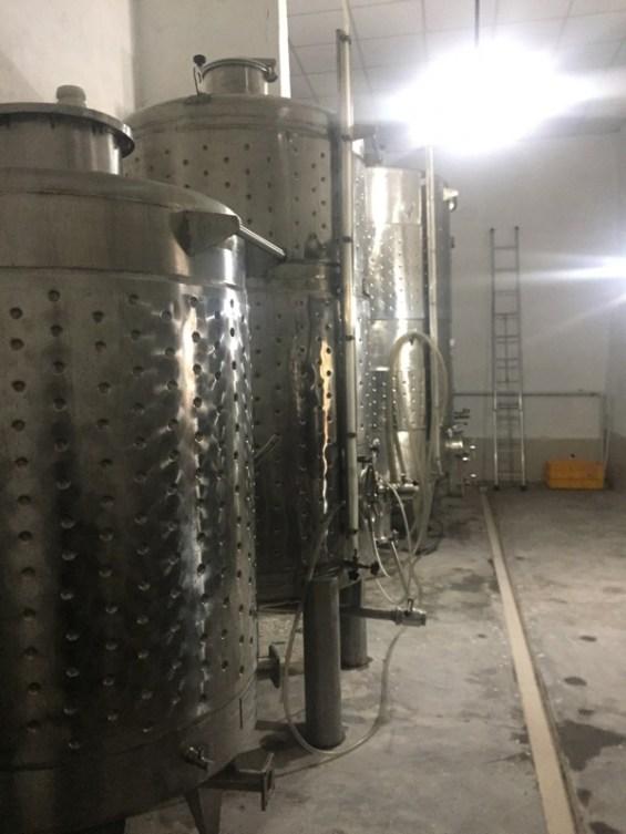 stainless steel tanks, Nipha Winery, Nashik Valley, India, Indian wine, Maharashtra
