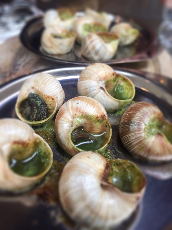 Escargots with garlic butter & herbs at Champagne + Fromage, Brixton Village, Brixton, London