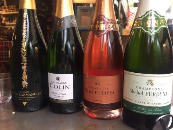 quartet of Chamapagne at Champagne + Fromage, Brixton Village, Brixton, London