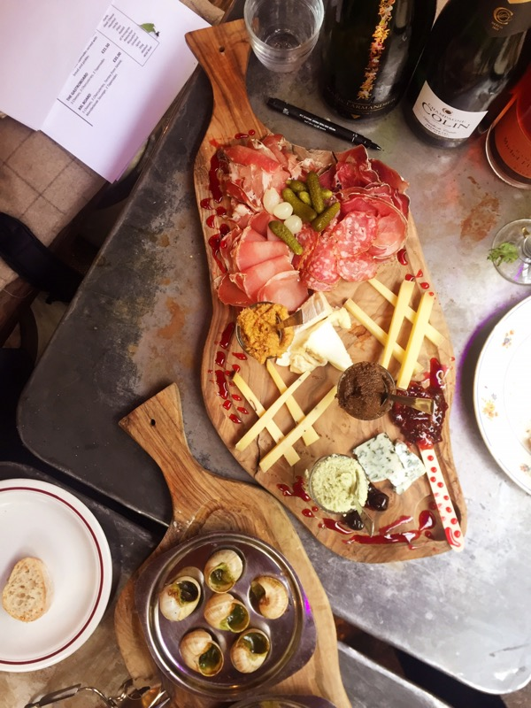 cheese and charcuterie platter at Champagne + Fromage, Brixton Village, Brixton, London
