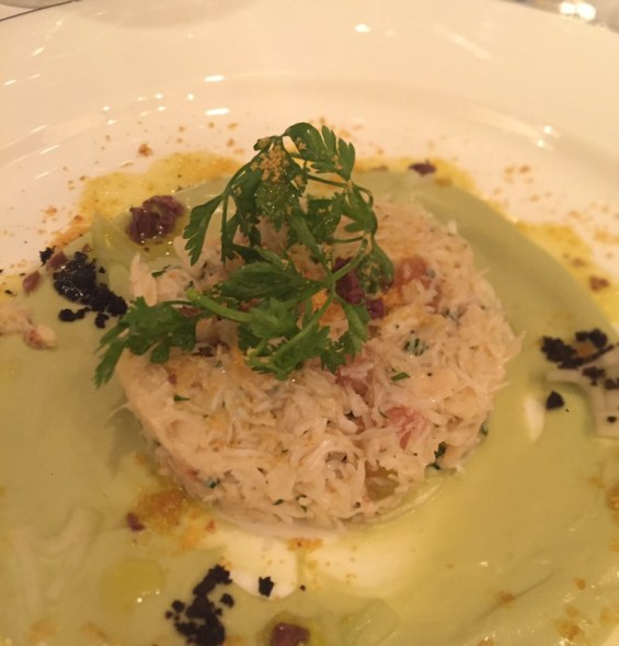 Cornish Crab Salad starter, Margot restaurant, Covent Garden, London