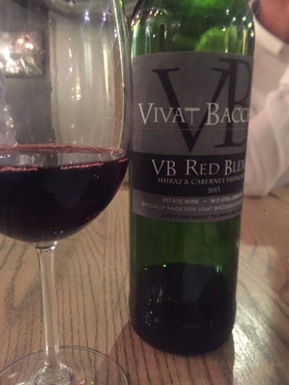 Vivat Bacchus Estate Red 2013 at Vivat Bacchus, London