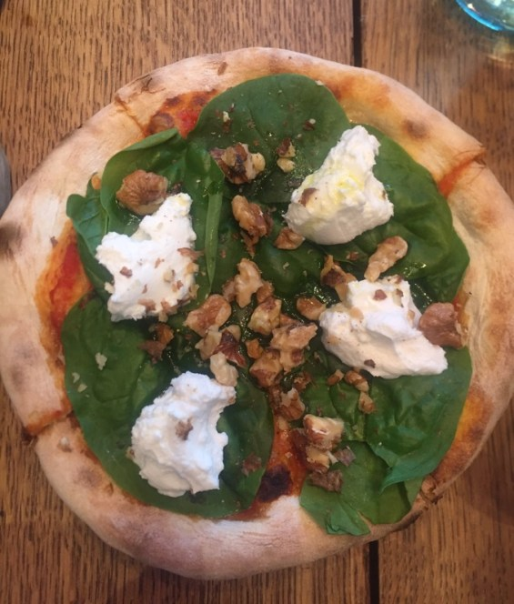 mascarpone and walnuts with spinach, Tozi, London, Cecchetti