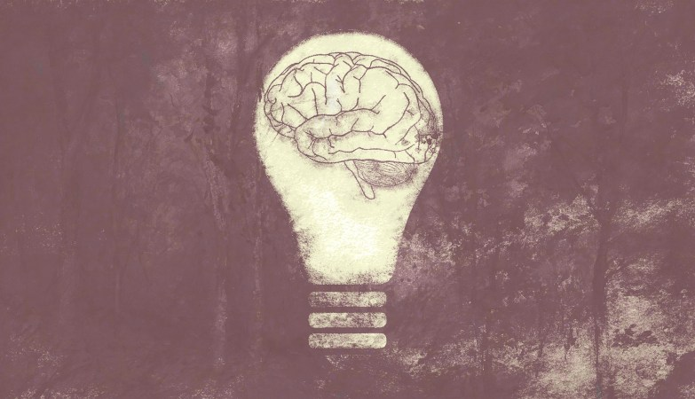 light bulb, brain, psyche