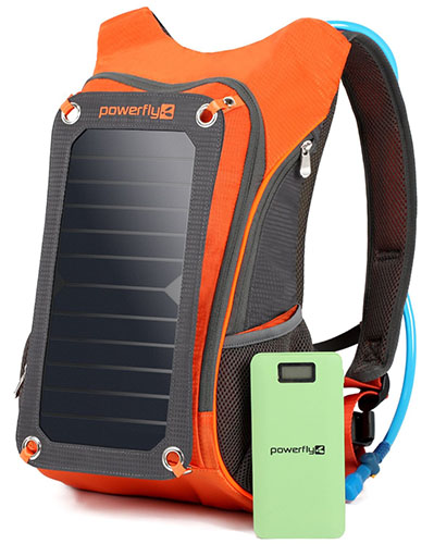 7. Powerfly Solar Powered Backpack