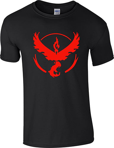 1. Go Team Valor Black Shirt, Medium