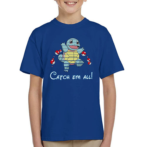 4. Pokemon Squirtle Kid's T-Shirt