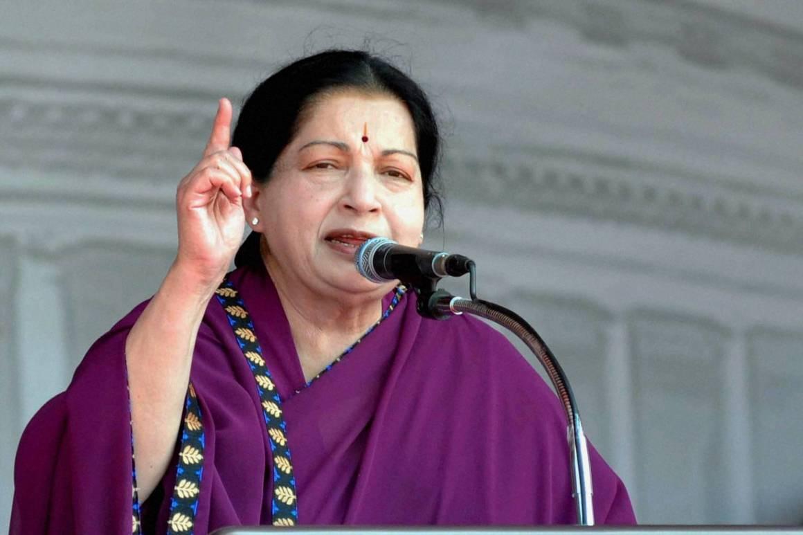 J. Jayalalithaa. Credit: moneybazaar.com