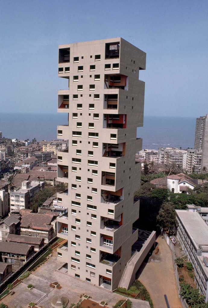 Kanchenjunga Apartments, Mumbai, one of Charles Correa's most significant landmarks.
