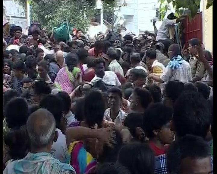 Crowd during stampede