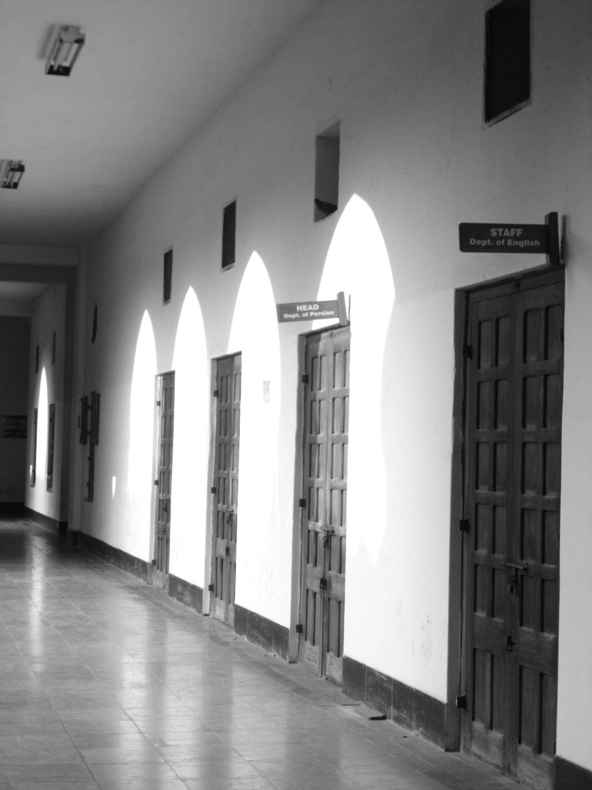 University  corridor. Credit: Jules Joseph, CC 2.0