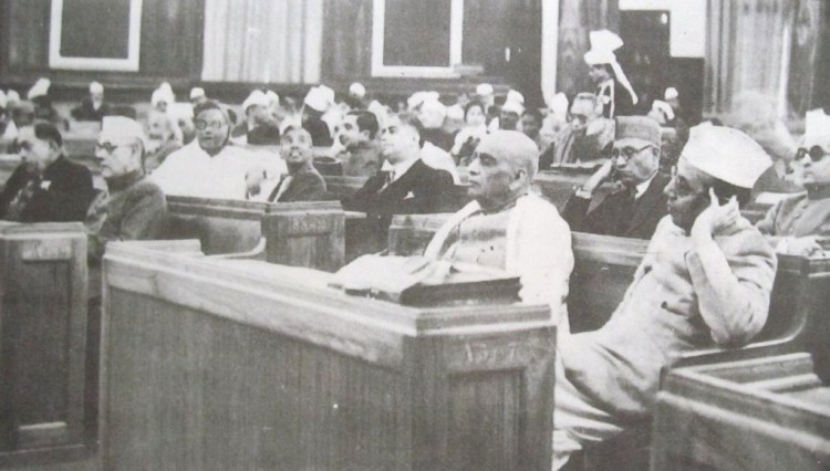 The Constituent Assembly, meeting in 1949