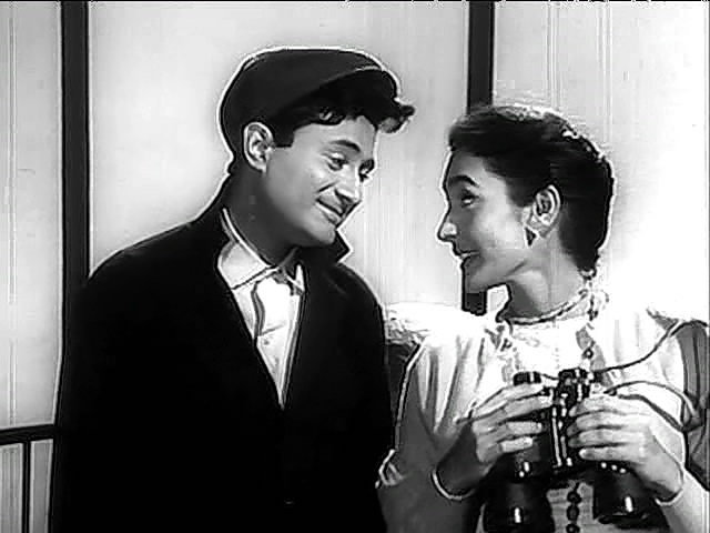 The evergreen Dev Anand with one of his favourite co-stars, Nutan